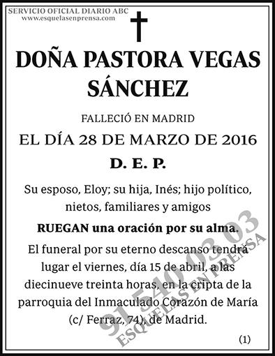 Pastoras Vegas Sánchez